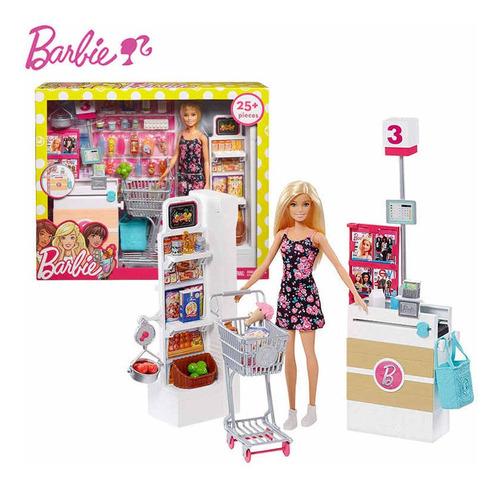Muñeca Barbie Vamos De Compras Al Supermercado Set 25 Piezas