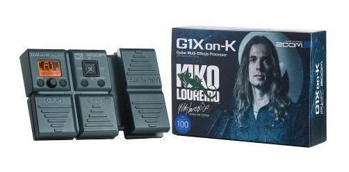 Pedaleira Para Guitarra Zoom G1xon-k Kiko Loureiro