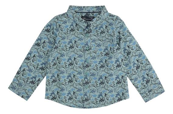 Camisa Manga Larga De Bebé Niño C&a (mod 1055542)