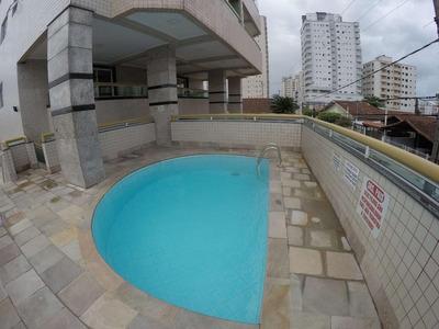 Apartamento Mobiliado Com 1 Dormitório Vista Para O Mar Para Alugar, 55 M² Por R$ 1.200/mês - Vila Tupi - Praia Grande/sp - Ap2696