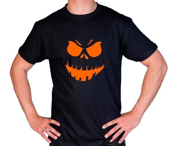 Camiseta Estampada Halloween Calabaza M2