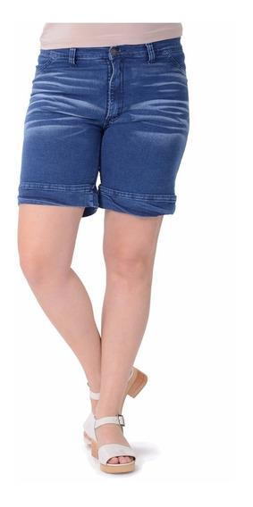 Short Portofem De Jean Con Spandex. Talles Grandes