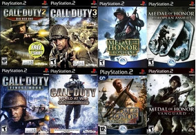 8 Patchs Ps2 - Call Of Duty + Medal Of Honor Collection
