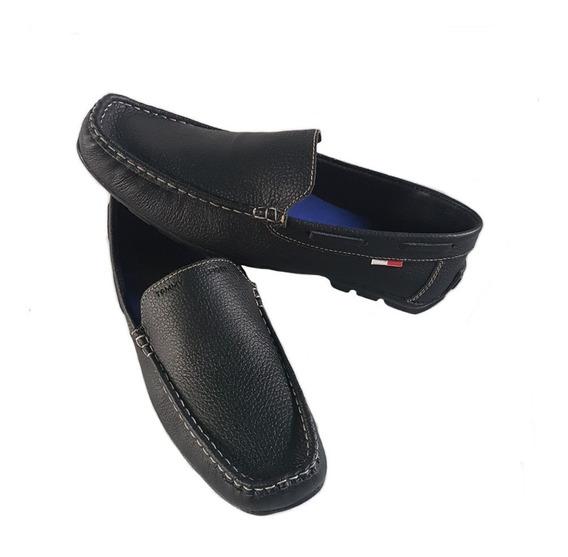 Zapatos Mocasines De Cuero, Piel, Caballero Tommy Hilfiger.