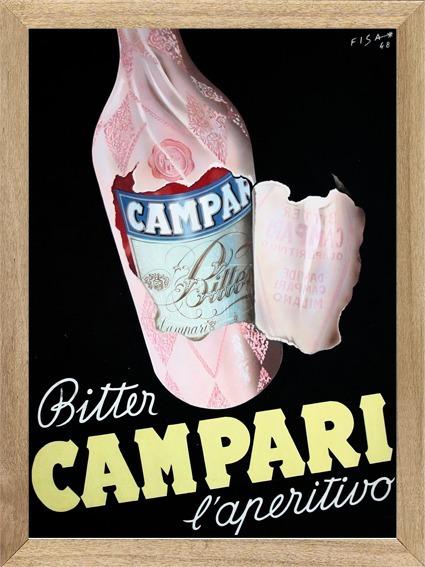 Campari Aperitivo , Cuadro , Bebida , Publicidad X537