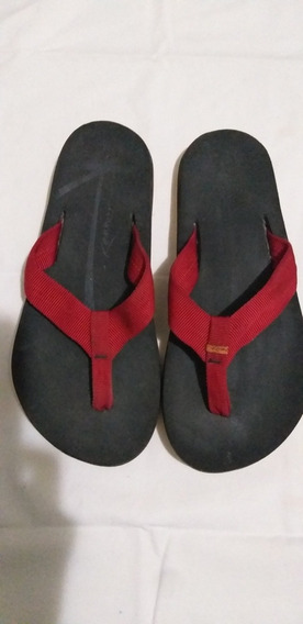 Chinelo Kenner Original 37 Sandalia Vermelho E Preto Usado 4x Apenas Novissimo