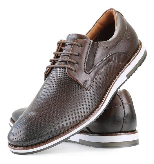 Sapato Oxford Em Couro Legitimo Nevano Cafe Casual Estiloso