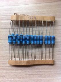 30 Resistores De Precisão 1% - 1w - 100 Ohms / Dip