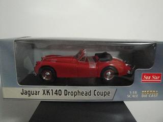 Mini Jaguar Xk 140 Drophead Coupe 1:18 Sun Star Red
