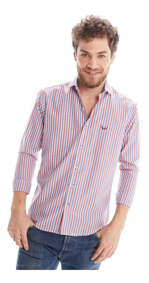 Pack X 3 Camisa Hombre Slim Fit Rayada Colores #1368 Tokyo