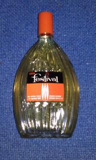 Antigua Locion Festival Etiqueta Naranja Vintage