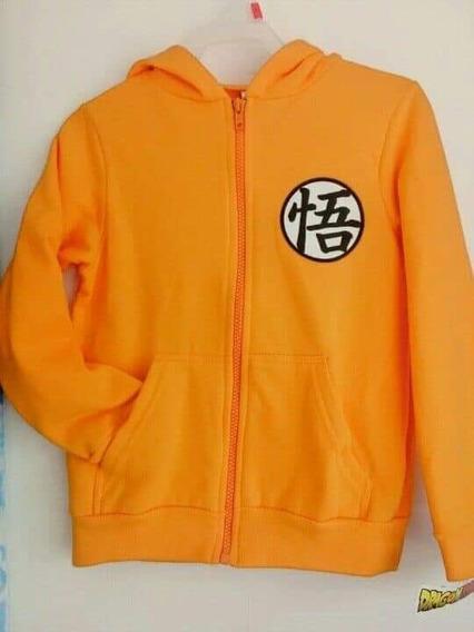 Sudadera Chamarra Dragon Ball Goku Talla 6 Y 8 Años