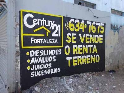 Terreno Zona Centro Por La Calle Tercera, C. Plutarco Ellas Calles ,entre /c. Negrete Y Fco. I. M