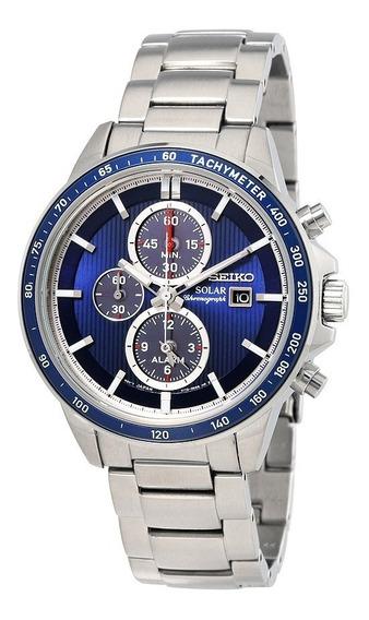 Relógio Seiko Solar Chronograph Azul Ssc431