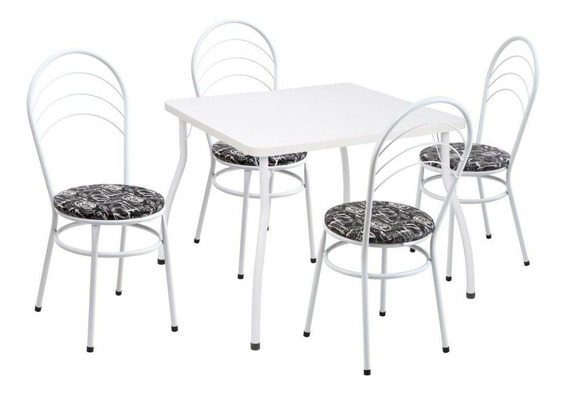 Conjunto Fil Mesa 13 Com 4 Cadeiras Rock 09