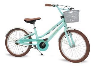 Bicicleta Infantil Nathor Aro20 Menina Antonella 9 A 11 Anos