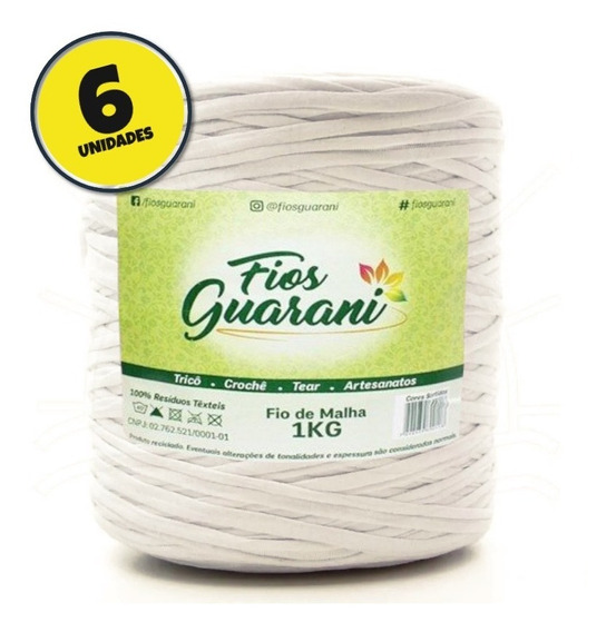 Fio De Malha Guarani 1kg Marfim - Kit 6 Unidades