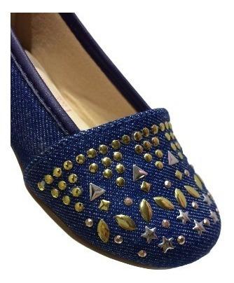 Sapatilha Menina Infantil Azul Jeans Baby Detalhes 0239
