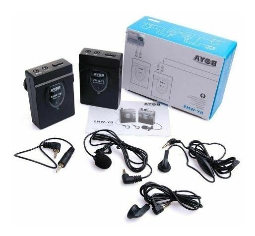 Boya Microfone Sem Fio By - Wm5 2.4ghz Dslr Nikon Canon