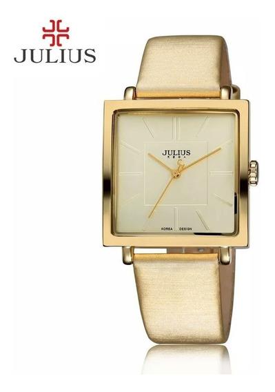 Relógio Julius Jl-10 Gold Prova D