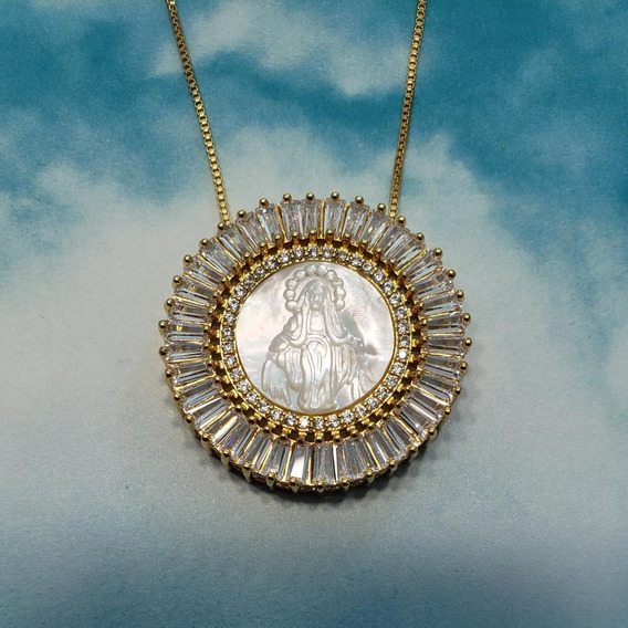 Virgen Milagrosa En Madre Perla / Oro