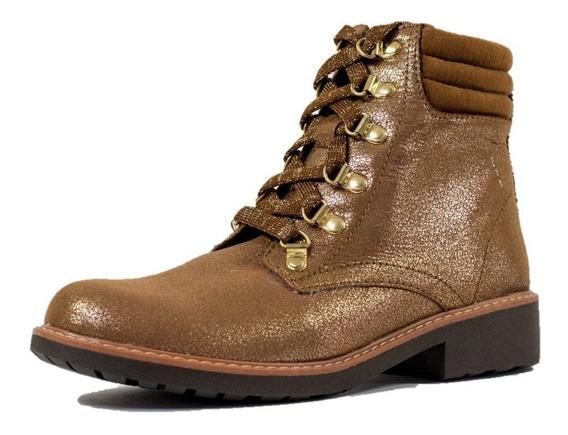 Botin Dama Mujer Nomadas Cafe Casual Confort Zapato Agujeta
