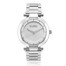 Relógio Euro Unissex Prateado Euy121e6ad\1k