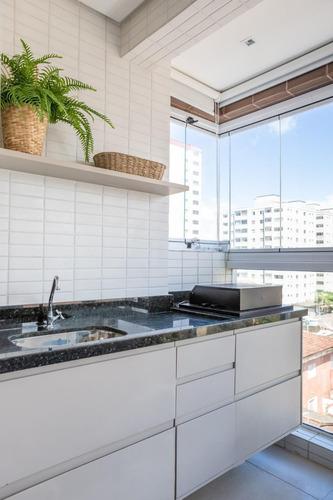 Imagem 1 de 14 de Apartamento 2 Dormitórios- Mobiliado- 50m Mar- Caiçara Amj93