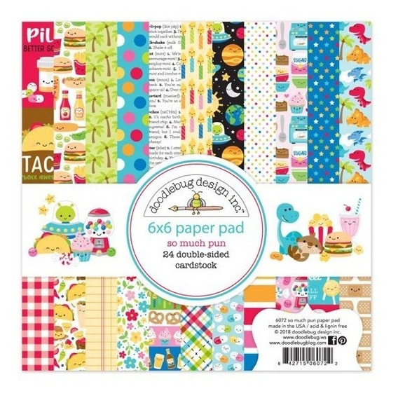 Paper Pad 6x6 Doodlebug Papeles Scrapbook So Much Pun