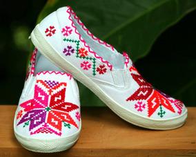 Zapato Bordado Huasteca Potosina
