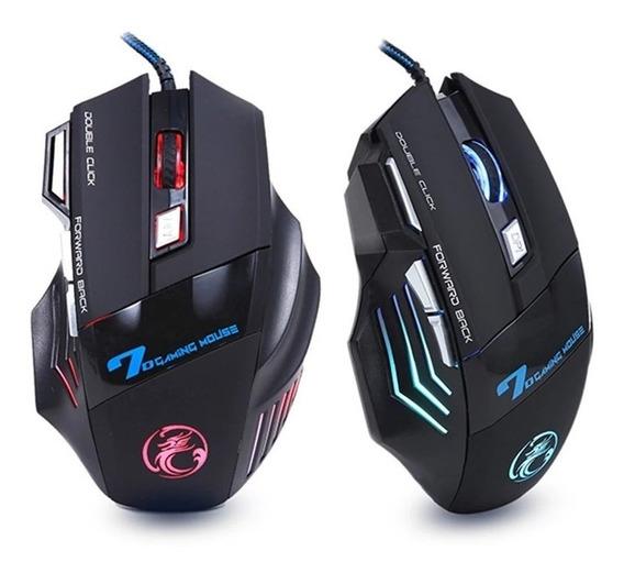 Mouse Gamer 5500dpi 7 Botões E Luz De Led