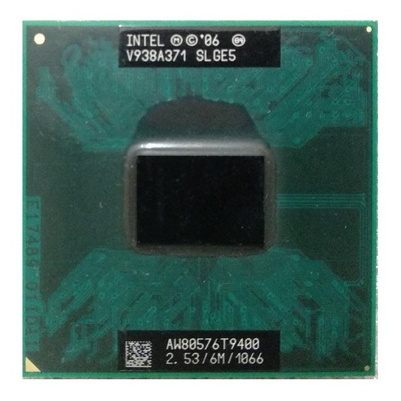 Intel Core 2 Duo T9400 2.4ghz Notebook - Gasile Processors