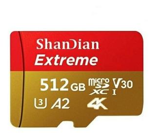 Cartão De Memoria Shandian Extreme 4k Original A2 512gb Cl10