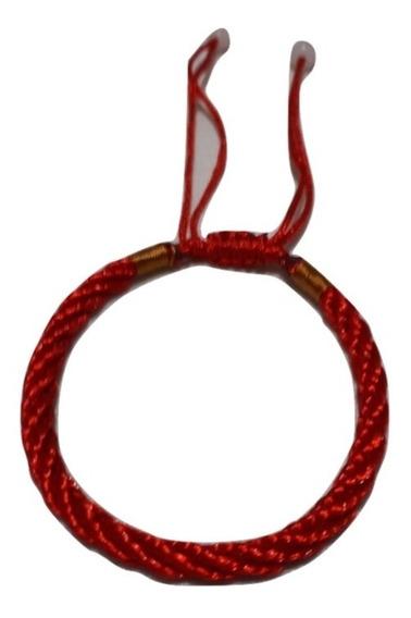 Pulsera Tibetana Hecha A Mano Amuleto Buena Suerte Rojo