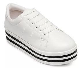 6ae696eeb Tenis Branco Feminino Via Uno - Calçados, Roupas e Bolsas com o ...