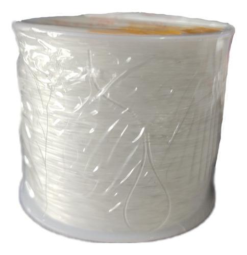 Imagen 1 de 1 de Hilo Nylon Elástico Transparente .8mm Bisuteria Pulseras