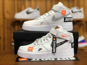 Zapatillas Importadas/ Nike Air Force1 Just Do It/ Caña Alta