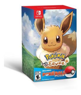 Consola Nintendo Switch 32gb Control Joy-con + Extra Juego De Pokemon Lets Go Eevee Con Pokebola Plus Incluido