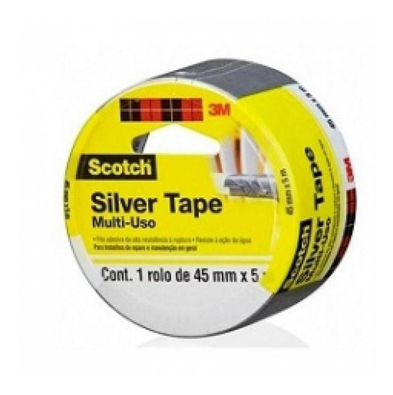 Fita Silver Tape 45mmx5m 3939 3m Blister