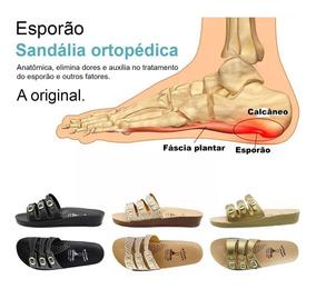 3 Pares Chinelo Ortopédica Sandália Antistres Dores Nos Pés