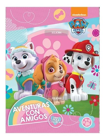 Libros Colorear Paw Patrol 4 16 Pg Recuerdos Fiesta Infantil