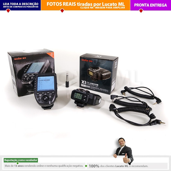 Radio Flash Transmissor Xproc + Receptor X1rc Godox Canon Np