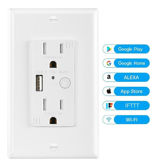 Tomacorriente Enchufe Inteligente Wifi Usb Echo Alexa Google
