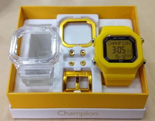 Relogio Champion Yot Cp40180x Original N.f. Frete Gratis