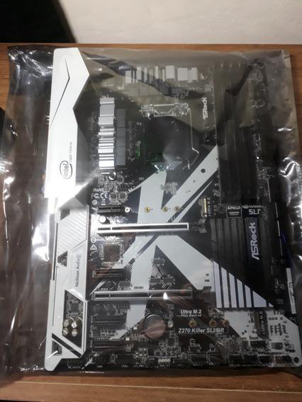 Kit Placa Mãe Asrock Z270 Nf Nova + Intel I5 7400 Galax Evga