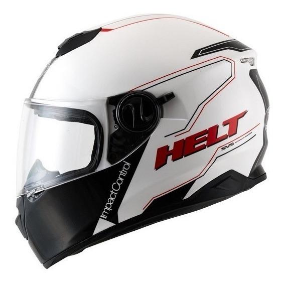 Capacete Helt New Race Glass Blanc Com Oculos Interno 60