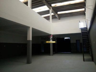 Galpão Para Alugar, 350 M² Por R$ 3.500/mês - Fundação - São Caetano Do Sul/sp - Ga0073