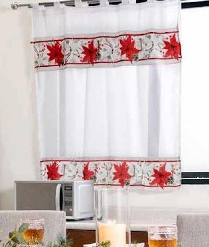 Imagen 1 de 2 de Cortinas Navideñas Para Cocina Navidad Christmas Vianney