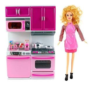 My Happy Cocina Lavaplatos & Estufa Battery Operated Toy Dol