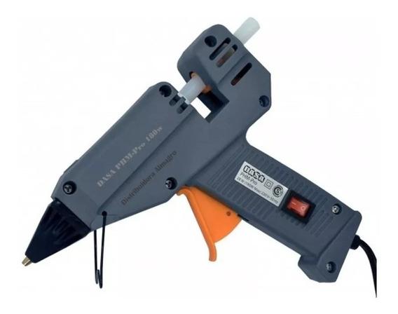 Pistola De Encolar Dasa 180 W + 10 Barras De Silicona